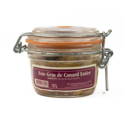 Lot de 3 verrines de 125g de foie gras entier