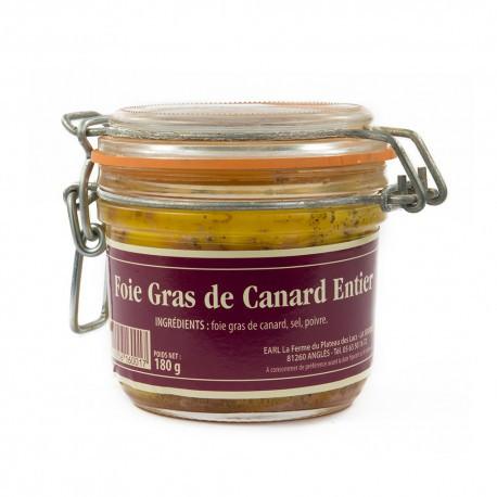 Lot de 3 verrines de 180g de foie gras entier