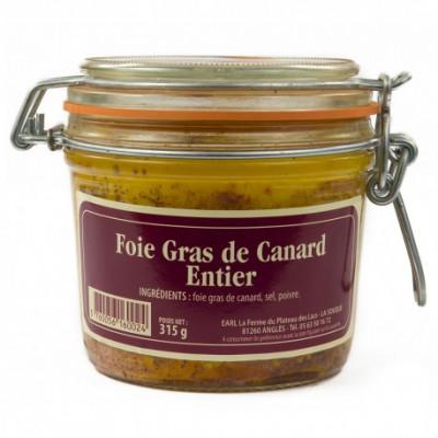 Lot de 3 verrines de 450g de foie gras entier