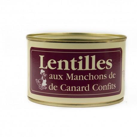 Lentilles aux manchons de canard confits