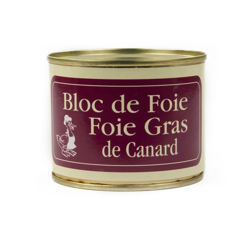 bloc de foie gras en boite ferme du plateau des lacs